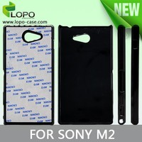 Prevalent blank sublimation phone case hard PC for Sony M2