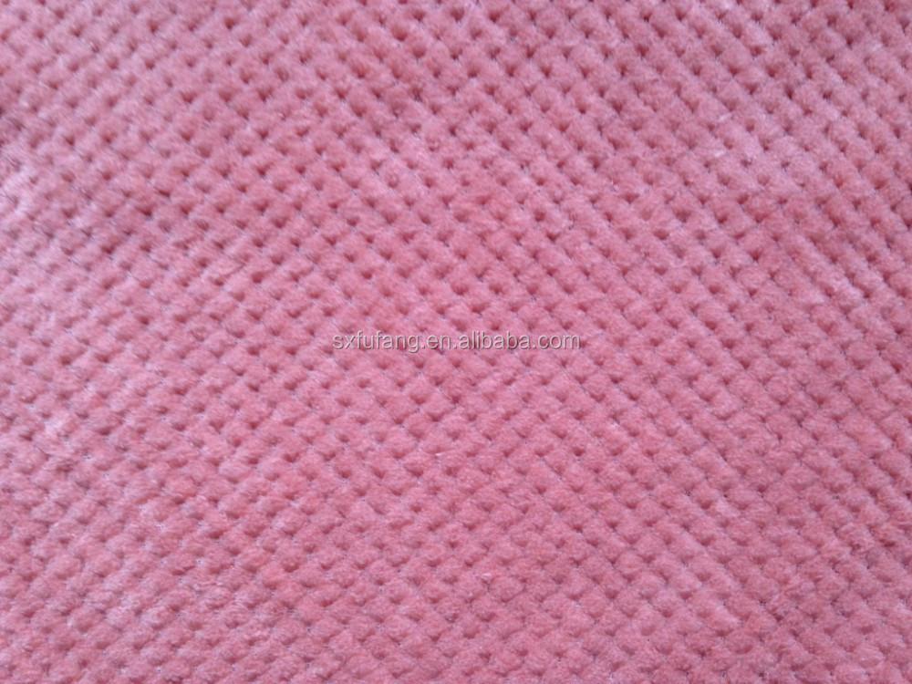 Warp Knitting Fabric Process : Warp knitted fabric home textile viscose blankets pink