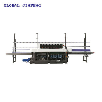 9 Grinding head Straight line edging glass polishing machine for flat glass hot selling JFE-9243