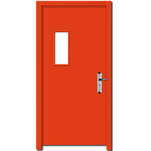 Wholesale fire proof non-standard size security entrance glass insertion american steel door red color for choose
