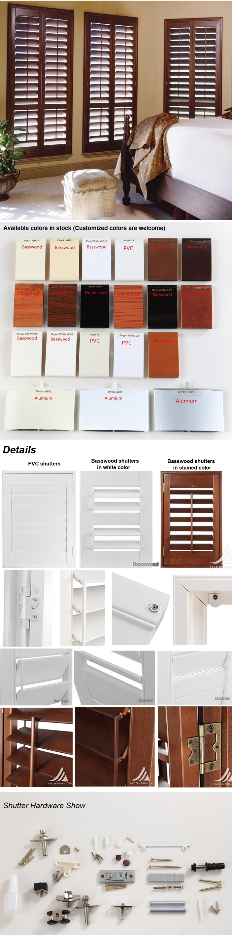Decorative Interior Shutters Beautiful Vertical Wooden Plantation Shutter Components Buy