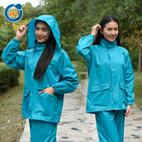2016 China reflective safety polyester unisex raincoat