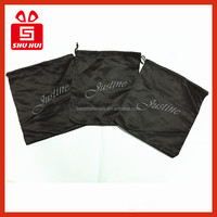 Satin bag buggy bag velvet gift bags pouch hair package labels swing tag paper printed logo