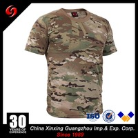 OEM low price military Tshirt 100%cotton camouflage military T-shirt Muticam CP Woodland short sleeves o-neck Military T shirt