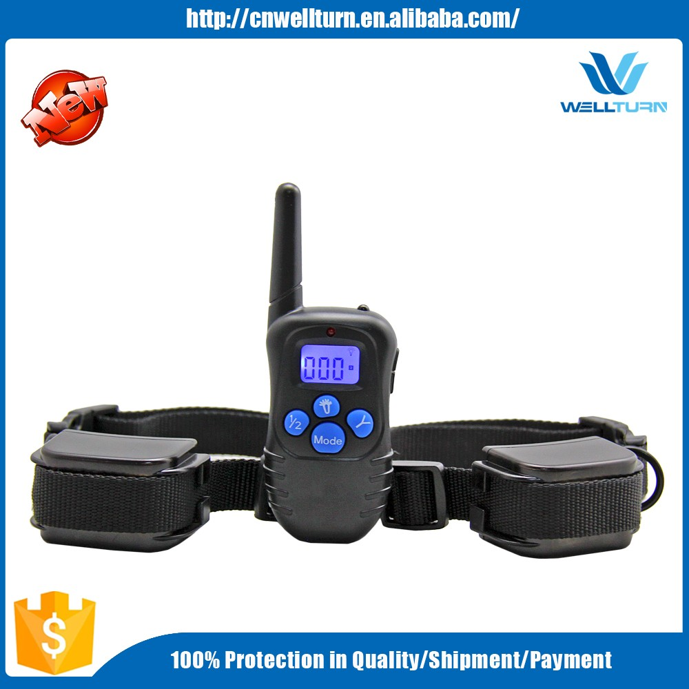Professional 330 Yards Remote Dog Training Collar Dog Shock Collar for up to 2 Dogs From 25 to 100 Lbs