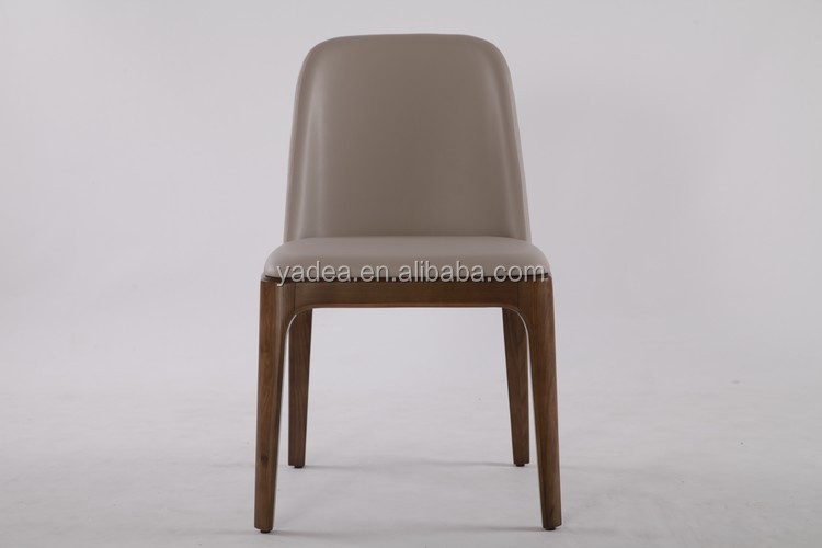 Famous design french style genuine leather poliform grace dining chair