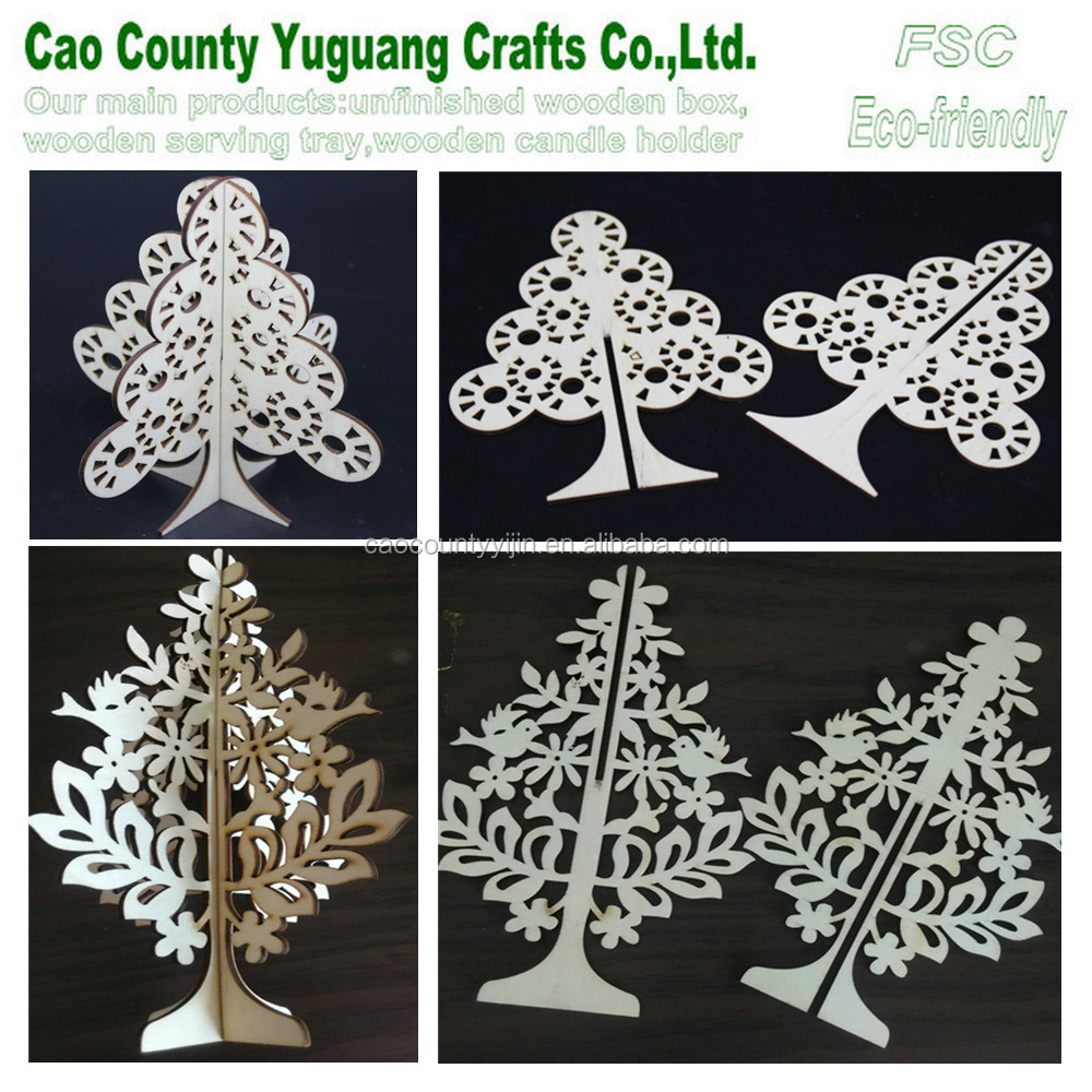 Decoration Xmas tree,foldable wooden Christmas tree,laser cut Christmas tree