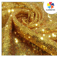 Gold sequin fabric mesh embroidered tulle fabric for wedding