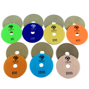 4 inch/100mm wet diamond polishing pads for polishing granite marble stone quartz and engineered stone 7pcs/set
