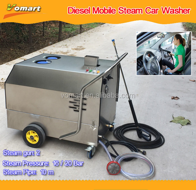 80 bar hot/cold water/30 bar steam battery drive mobile heavy duty diesel steam jet car wash machine price