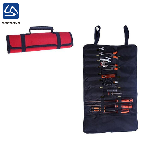 wholesale multifunctional strong polyester roll up bartender tool bags