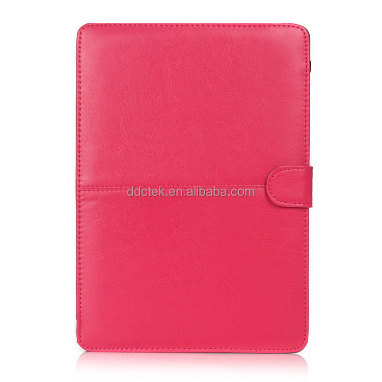 HOT PU leather laptop protective sleeve cover case for apple Macbook Pro for Macbook Air- rose pink color