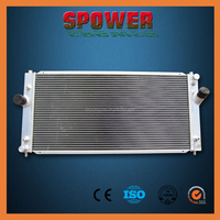 Aluminum water radiator with cover for TOYOTA MR2 SW20 1992-1998