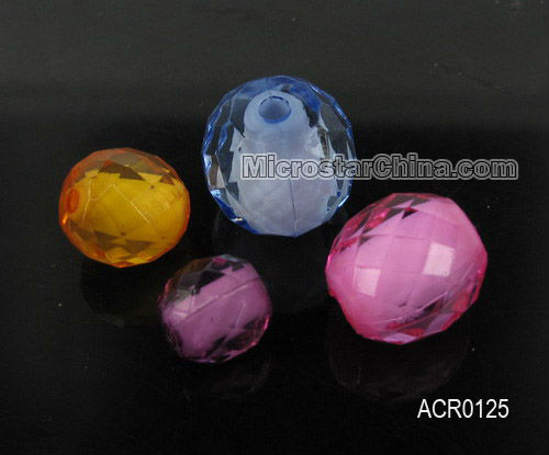 Fantastic charms beads for jewelry, 15mm faceted round