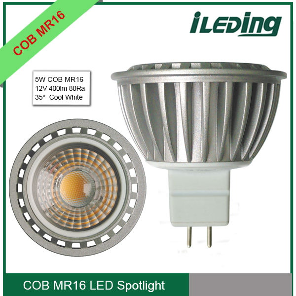 High Lumen 400lm 12V 5W COB MR16 LED Spotlight