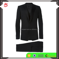 High Quality Blank Black New Design Tuxedo Men Suit at Low Price Wholesale