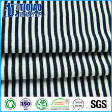 Black&white striped ribbed fabric ribbed cuff fabric 100% cotton
