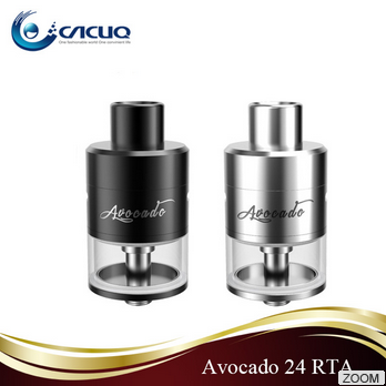 Cacuq Hottest RTA in Stock!!! 5ml Black / Silver Geekvape Avocado 24 RTA Tank Wholeale