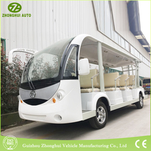 environmental Elegant 4 wheel city 14 passenger shuttle bus electric utility vehicle tour bus