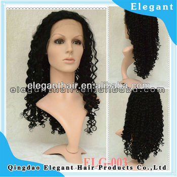 Spring curl indian virgin hair silk top full lace wig