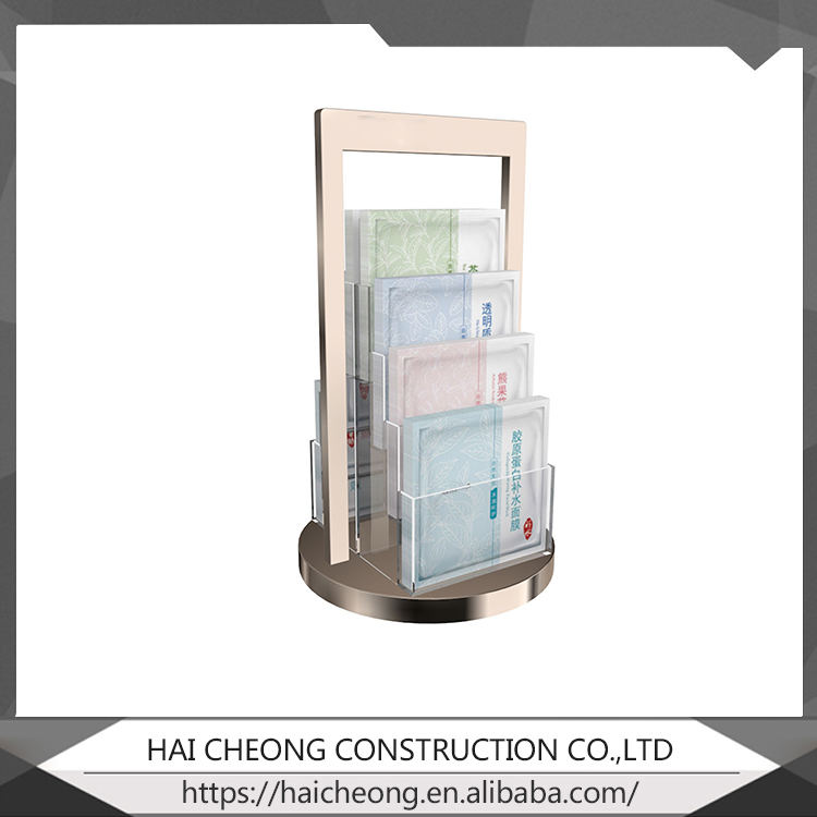 Custom design production and services acrylic Cosmetic display rack