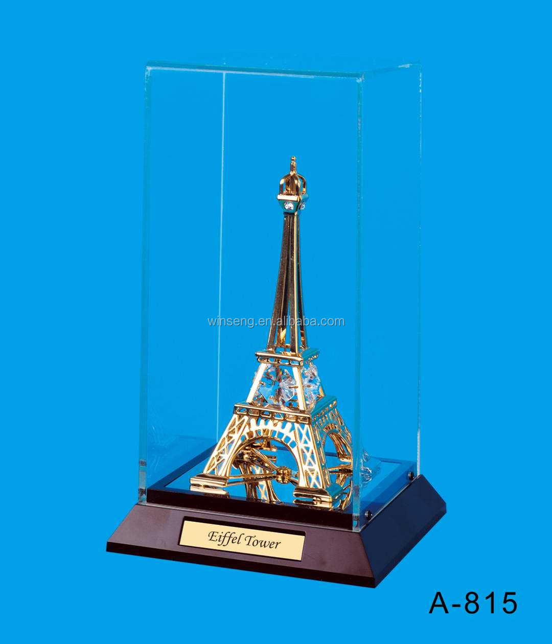 24K gold plated Eiffel Tower Packed in Acrylic Box