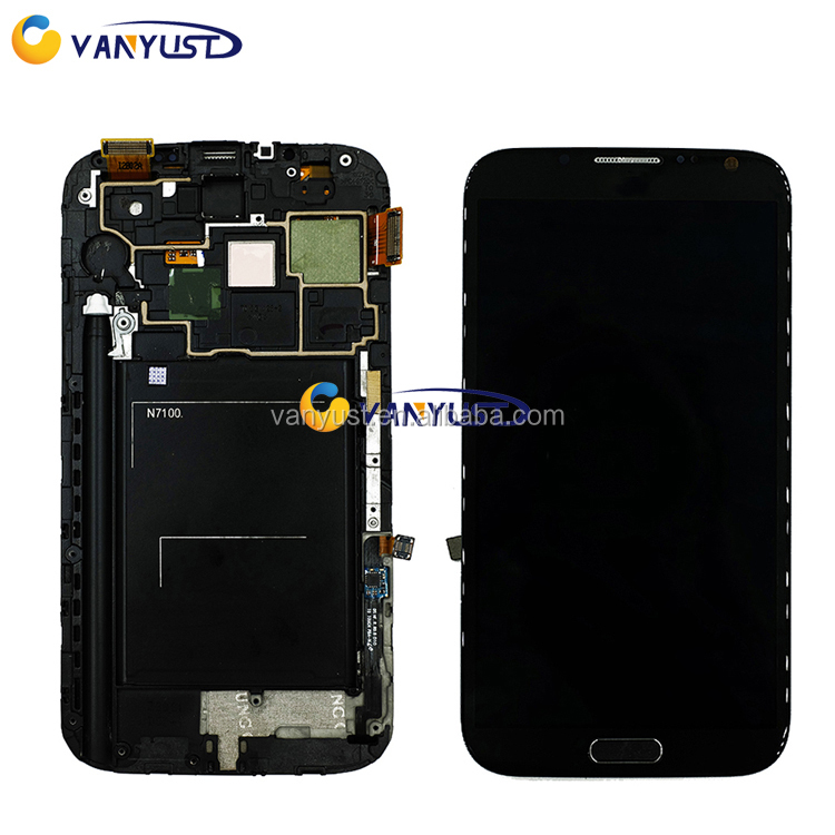 Wholesale High Quality LCD Display Touch screen for SAMSUNG galaxy Note2 n7100 LCD TOUCH SCREEN with digitizer