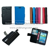 Wallet flip leather case for samsung Galaxy Core I8262 I8060