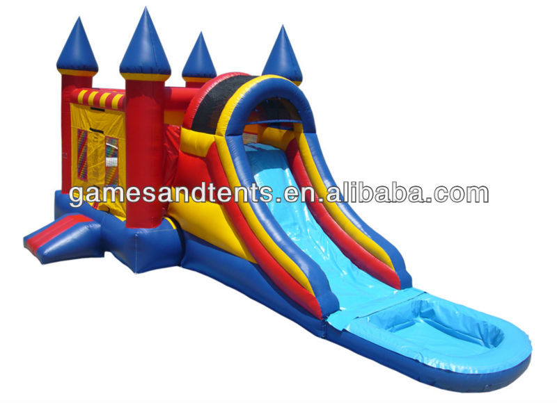 PVC top sale inflatable slide combos A3041