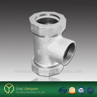 Pipe fitting cast malleable iron tee 130 GP/T7306 processing stardard