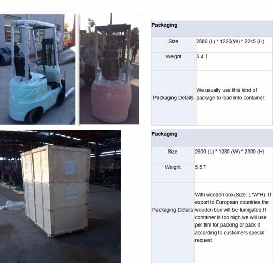 Electric Forklift Price With CE Certificate on 2 Ton Forklift