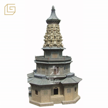miniature flower pagoda in history museum plastic display model