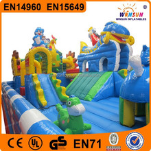 kids and adults fashion big inflatable city for fun