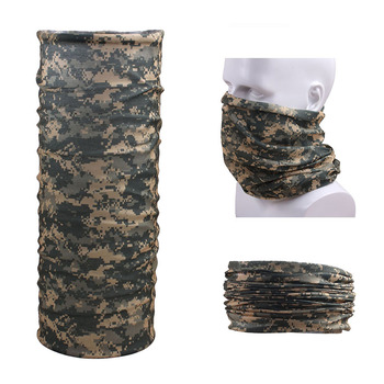 Outdoor Camouflage Tactical Balaclava Scarf Full face Mask Neckwear Multifunction 8 in 1 Hood Collar Motorcycle bandana