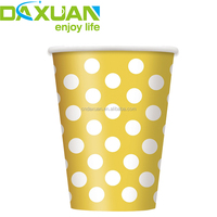 Custom logo Printed Disposable Single Wall Coffee Paper Cup