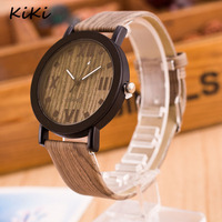 >>>6 Colors Vintage Wood Watch Grain Fashion Watches Saat Leather Quartz Relojes Mujer Women Wooden watch