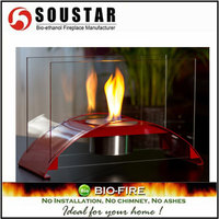 Hot New Indoor Fashion TD-1M-2, SS burner removable ethanol fire place