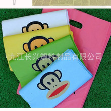 Flat plastic bag for clothes packing