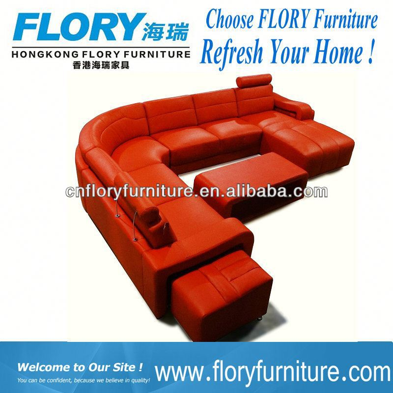 2013 new designs french style leather sofa