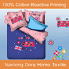 100%cotton printed childern bed sheet bedding sets wholesale baby bed sheets