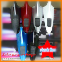 2014 New Solar Powered Car Shark Fin Antenna Style 10 LEDs Warning Flash Tail Light White