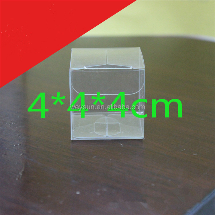 4x4x4cm Clear PVC favor Packaging boxes transparent plastic gift display package square Box show case