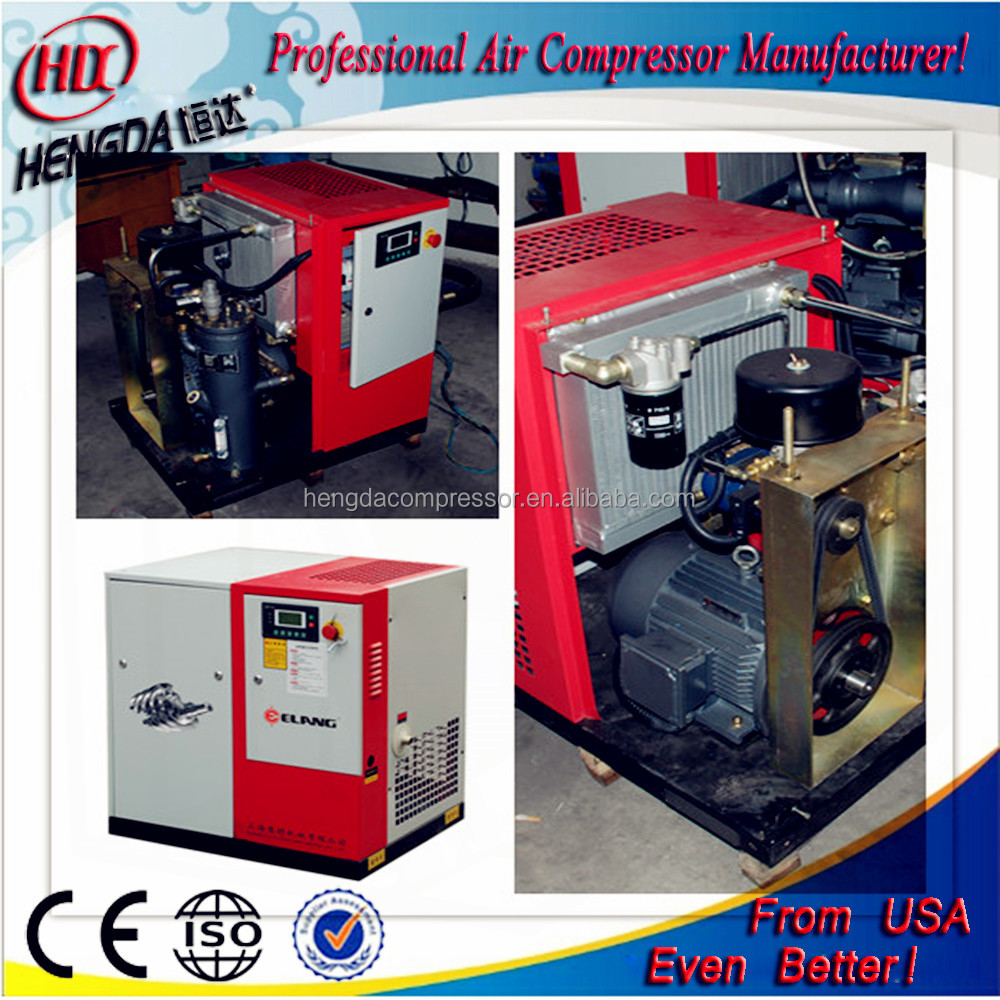 8 bar screw air compresso 22KW 30HP big compressor frequency conversion industrial