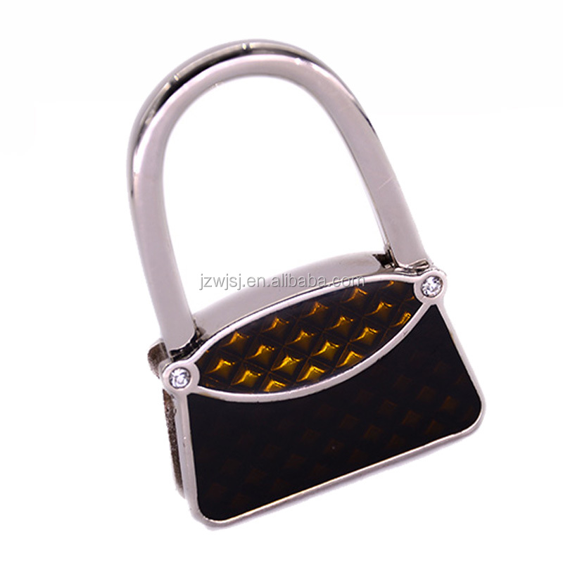 Fashion lady metal foldable handbag holder