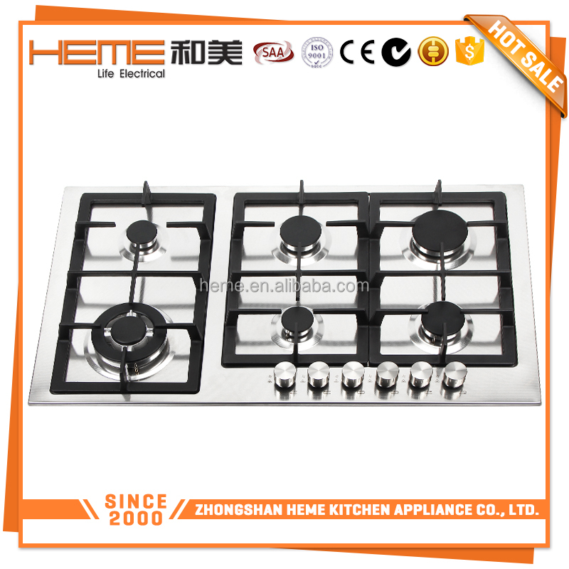 Kitchen New Gas Cooker 6 burners battery/electric Ignition gas stove panel(PG9061S-A1CI)