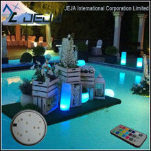 floating water pool ball bar and restaurant design ideas round led light base