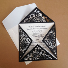 Designer hot selling laser cut wedding invitation card cover