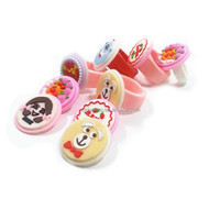 Kids Accessories Soft PVC Colourful Kids Silicone Rubber Finger Ring