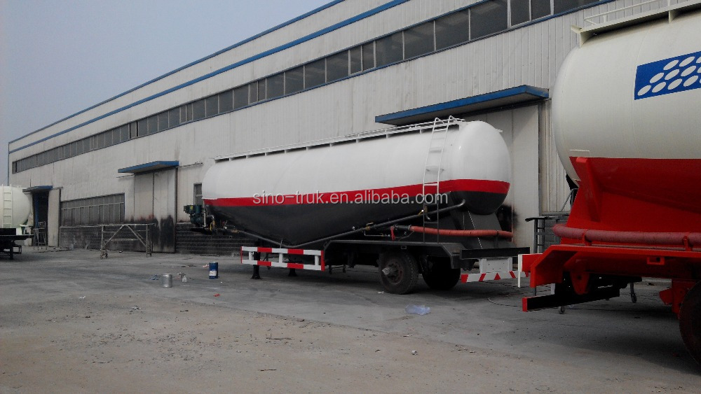 semi-trailer type and truck trailer use tri axle 55m3 cement bulker trailer