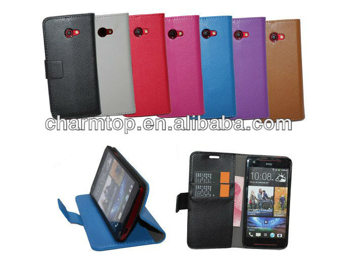 100% Brand New Wallet Leather Case For HTC Butterfly S